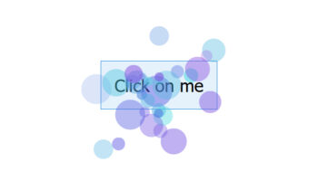 Click on me written in a button. There are particles floating all around the button